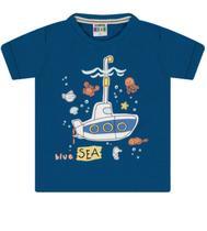 "Camiseta Masculina Infantil Estampada ""Blue Sea"" - Sempre Kids"