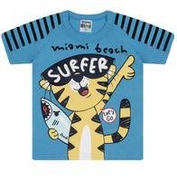 """Camiseta Masculina Infantil Estampada """"Surfer"""" - Sempre Kids"""