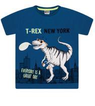 """Camiseta Masculina Infantil Estampada """"T-Rex"""" - Sempre Kids"""