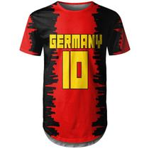 Camiseta Masculina Longline Alemanha Germany md01 - Over fame