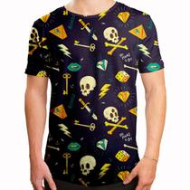 Camiseta Masculina Longline Swag Hipster Tattoo - Over fame