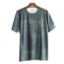 Camiseta masculina oceano camuflada -