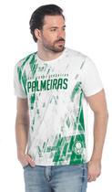 Camiseta masculina oficial Palmeiras branca modelo torcedor -