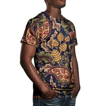 Camiseta Masculina Vintage Floral Digital - Over fame