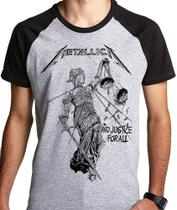 Camiseta Metallica Justice For All Camisa (banda Rock) Blusa
