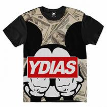 Camiseta Mickey Mouse Gangsta Dólar - Ydias