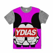 Camiseta Mickey Mouse Gangsta Pink - Ydias