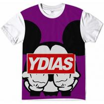 Camiseta Mickey Mouse Gangsta Purple - Ydias