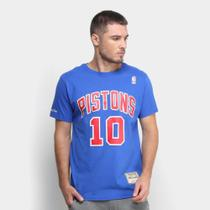 Camiseta Mitchell  Ness Detroit Pistons Masculina -