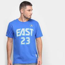 Camiseta Mitchell  Ness Name  Number James 23 Masculina -