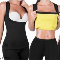 Camiseta Modeladora Feminina Cinta Redu Térmica Shaper Regata Hot Neoprene (M) TAMANHO - M - Cami Hot