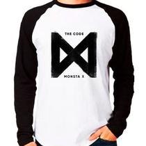 Camiseta Monsta X The Code Kpop Raglan Manga Longa - Eanime