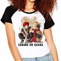 Camiseta Naruto Shippuuden Sabaku No Gaara Raglan Babylook - Eanime