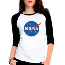 Camiseta Nasa Geek Nerd Cosplay Raglan Babylook 3/4 - EANIME