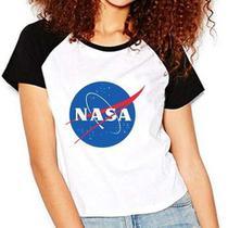 Camiseta Nasa Geek Nerd Cosplay Raglan Babylook - Eanime
