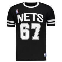 Camiseta Nba Nets 67 - Preto E Branco G -
