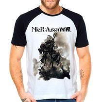 Camiseta Nier Automata Game Raglan Manga Curta - Eanime
