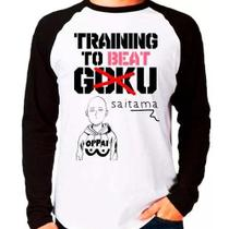 Camiseta One Punch Man Training To Beat Saitama Não Goku - Eanime