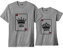 Camiseta Para Casal Combinando Rei E Rainha Baralho - Loja Bobkin