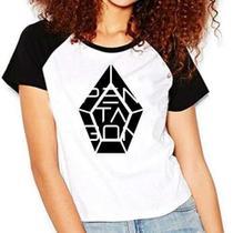 Camiseta Pentagon Kpop Raglan Babylook - Eanime