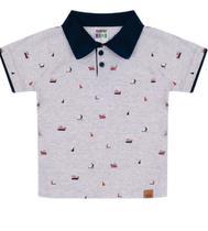Camiseta Polo Masculina Infantil Estampada - Sempre Kids