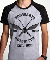 9247f6cc91 Camiseta Quadribol Hogwarts Harry Potter Geek Camisa Blusa