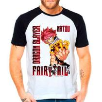 Camiseta Raglan Anime Fairy Tail Natsu Dragneel Guilda Ft - Eanime