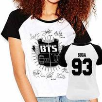 Camiseta Raglan Babylook Kpop Bts Bangtan Boys Suga 93 - Eanime