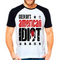 Camiseta Raglan Banda Green Day American Idiot - Eanime