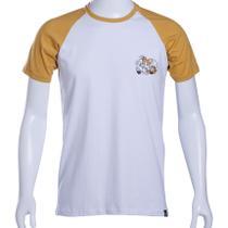 Camiseta Raglan Branca/Mostarda Sonic The Hedgehog Tails - Tectoy