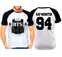 Camiseta Raglan Kpop Bts Bangtan Boys Rap Monster 94 - Eanime