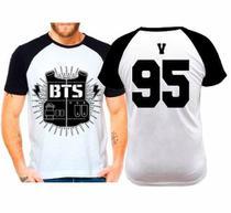 Camiseta Raglan Kpop Bts Bangtan Boys V 95 - Eanime