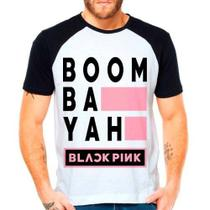 Camiseta Raglan Kpop K-pop Blackpink Boom Bah Yah - Eanime