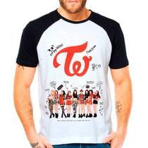 Camiseta Raglan Kpop Twice Membros Autografos - Eanime