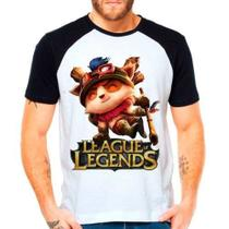 Camiseta Raglan League Of Legends Teemo Lol Top Lane - Eanime