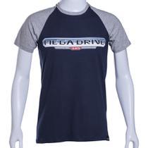 Camiseta Raglan Marinho/Cinza Sega Mega Drive BR Authentic Brand - Tectoy