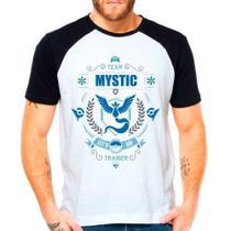 Camiseta Raglan Pokemon Go Team Mystic Articuno Time Azul - Eanime