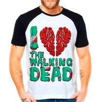 Camiseta Raglan Série The Walking Dead Twd Eu Amo I Love S2 - Eanime