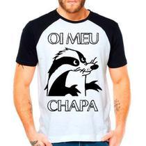 Camiseta Raglan Texugo Pica Pau Oi Meu Chapa - Eanime