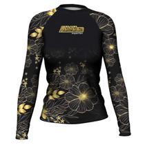 Camiseta Rash Guard Flower Femi Surf Uv ATL - Atlética Esportes