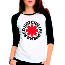 Camiseta Red Hot Chili Peppers Rock Raglan Babylook 3/4 - Eanime