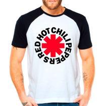 Camiseta Red Hot Chili Peppers Rock Raglan Manga Curta - Eanime