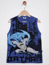 Camiseta Regata Batman Infantil Para Menino - Azul -