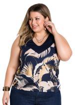 Camiseta Regata Feminina Soltinha Plus Size Linda TAMANHO XXG (54-56) - Sempre Bela