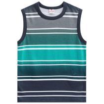 Camiseta Regata Infantil Brandili Listrada Masculina -