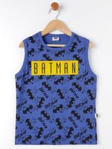 Camiseta Regata Infantil Masculino Batman Azul Escuro -