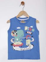 Camiseta Regata Infantil Para Menino - Azul - Sempre Kids