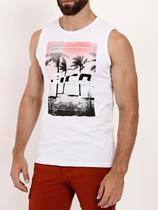 Camiseta Regata Masculina Branco - Fico