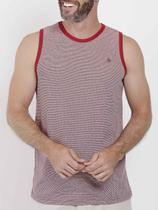 Camiseta Regata Masculina Vermelho - Fico