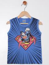 Camiseta Regata Super Homem Infantil Para Menino - Azul - DC